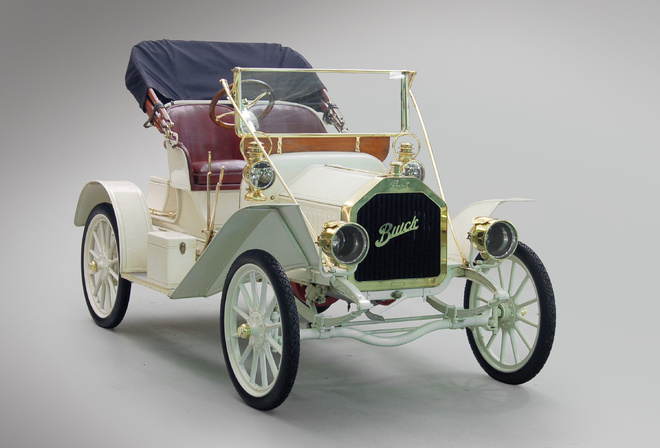 1908, Buick, Model 10, Touring Runabout, ретро, кабриолет, белый