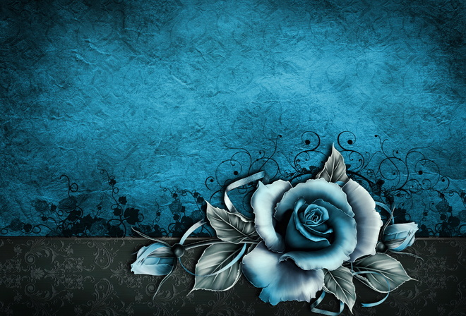 vintage, grunge, rose, paper, wallpaper, blue, floral, texture, винтаж, фон, текстура, роза, бумага