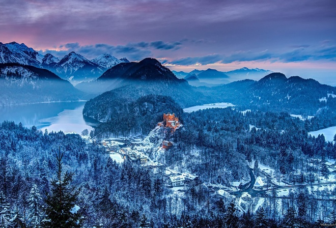 bavaria, germany, winter, castle