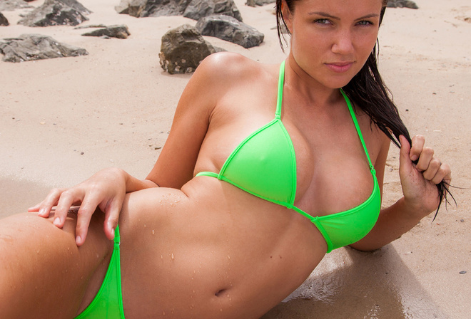 Бикини пляж секс уводольствием
