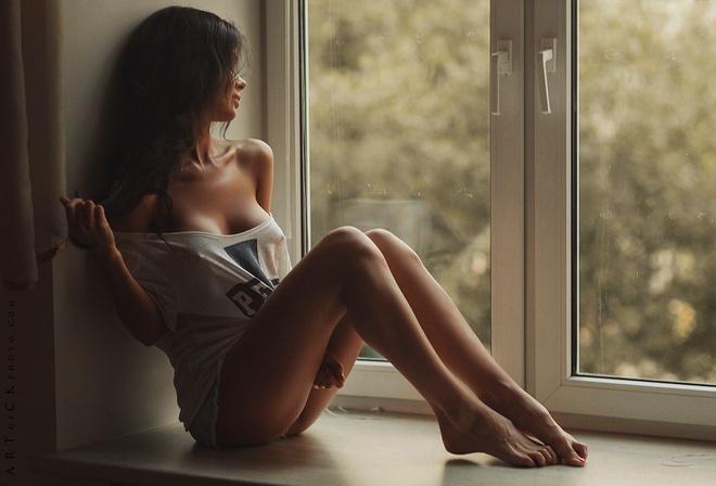 я разделась перед окном члена одной девочке