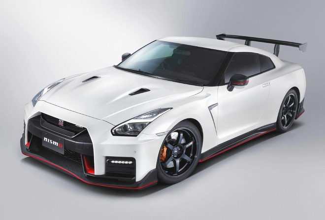 Sports car, white, Nissan GT-R Nismo N-Attack