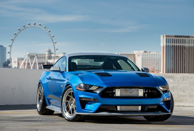 Ford, Mustang, GT, blue