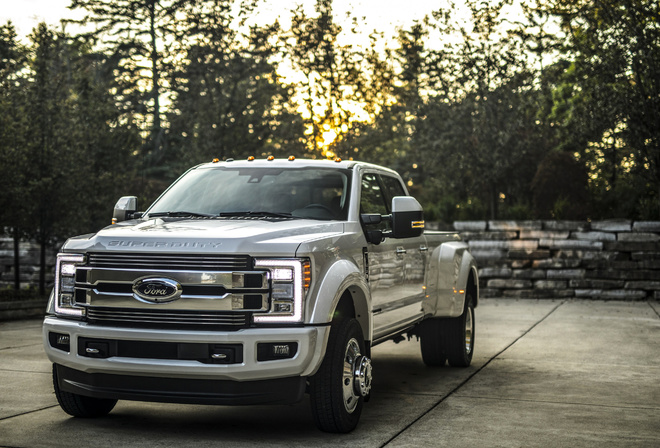 Ford, Super Duty, F-450, silver, F-450, big, pickup, truck