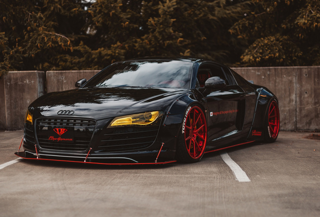 Audi, R8, LB, Performance, black, sports coupe, tuning