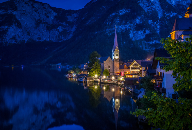 Hallstatt, Austria, city, mountain high