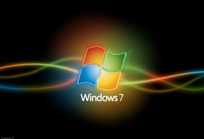 Windows 7, логотип, линии