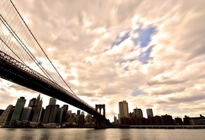 manhattan, бруклинский мост, brooklyn bridge, нью йорк, New york