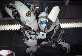 Portal 2, valve, robots, роботы, cg wallpapers