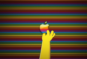 simpsons, Apple, логотип