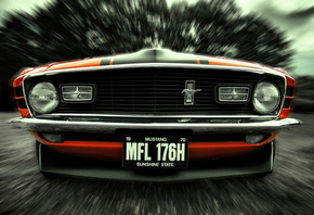 front, mustang, ford, 1970