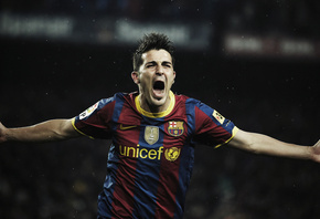 спорт, барселона, David villa, barcelona wallpapers, давид виллья