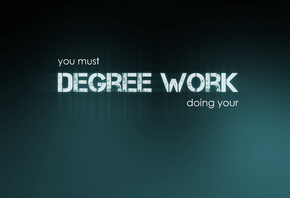 must, Degree work, фон