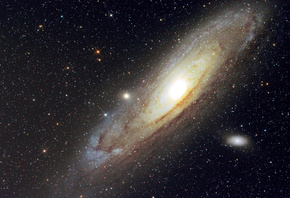andromeda galaxy, Космос, небо, звезды