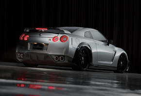 line, bison edition, Wald, black, nissan gt-r sports