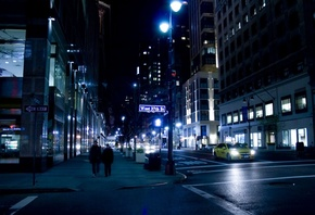 нью-йорк, nyc, ночь, улица, night, New york city