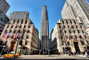 nyc, new york, нью-йорк, 5th avenue, Rockefeller center, usa