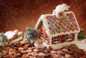 gingerbread, cookie, Winte house, biscuit, december festive, christmas bake, candyland