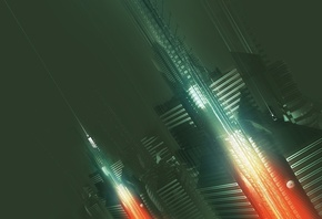 future, city, 3d, Amplifier404, abstract