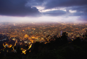 bogota, богота, ночь, night, колумбия, monserrate, Colombia