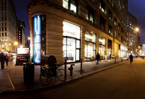ночь, nyc, New york, madison square park area, panoramic, нью-йорк, night,  ...