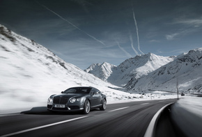 2012 bentley continental gt v8, машина, дорога