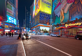 times square, night, usa, New york, 42nd and 7th, нью-йорк, ночь, nyc