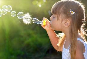 children, девочка, childhood, little girl, child, Bubbles, happiness, пузыр ...