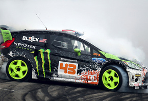 monster energy, tuning, sportcar, ford, fiesta, drift, ken block
