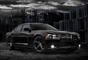 charger, Dodge, blacktop, блэктоп, передок, чаржер, додж, 2012