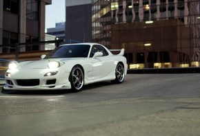 cars walls, parking, cars, Auto, wallpapers auto, mazda rx7, tuning, tuning ...