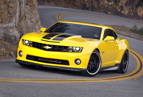 yellow, black, car, hennessey, tuning, Chevrolet, wheel, шевролет, camaro, hpe650