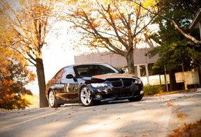 335i, city, Auto, bmw 335i, cars walls, bmw, обои авто, bmw e92, black, cars