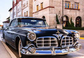 usa, florida, st. augustine, chrysler, 1955 imperial newport coupe