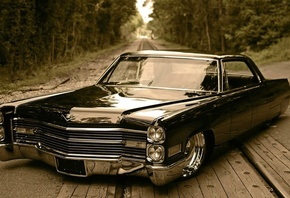retro car, de ville, cadillac, low rider