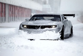 wallpapers, snow, chevrolet, car, winter, camaro, zl1
