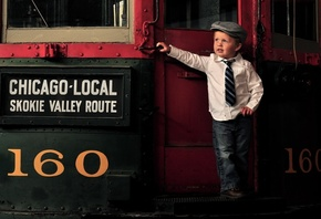 model, small, train, child, chicago, suit