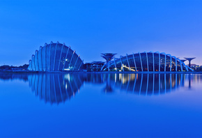 reflection, сингапур, singapore, Malaysia, evening, малайзия, gardens by the bay