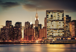 New York, Chrysler Building, city, Нью Йорк