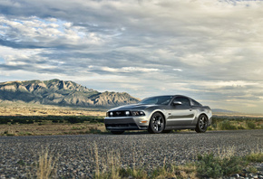 5.0, ford, мустанг, mustang, silvery, gt, muscle car