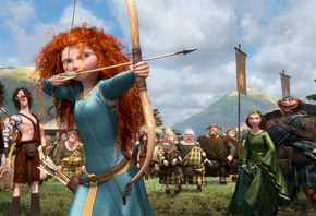 disney, pixar, archer, scotland, film, queen, Brave, bow competition, the movie, king, princess