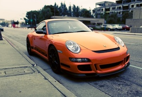 cars, rs, стоянка, orange, Auto, porshe, parking, porshe gt3 rs, сity, gt3