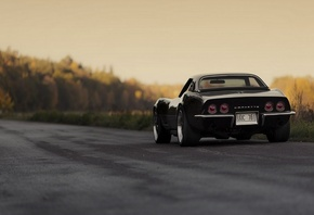wallpapers, classik, chevrolet, black, retro, 1969, Car, corvette, автомоби ...