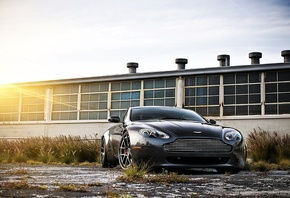 aston martin, cars walls, обои авто, vantage, black, Auto, cars, v8