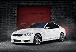 Bmw, white, by j.a.designs, m4, 2015 coupe, concept car, f82