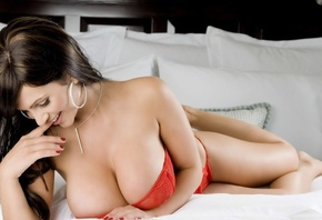 Denise Milani, Large Breast, Smile, Brunette, Sexy