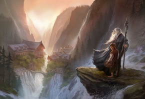 an unexpected journey, гэндальф, rivendell, Арт, the hobbit, хоббит, gandal ...