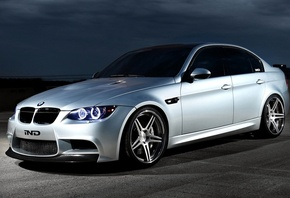 wallpapers, sedan, automobile, ghost, ind, angel eyes, 2012, tuning, e90, silver, Car, bmw m3