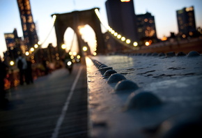 нью йорк, боке, usa, manhattan, город, new, New york, brooklyn, bridge, york, ny