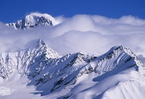 Alaska, mountain, snow, cloud